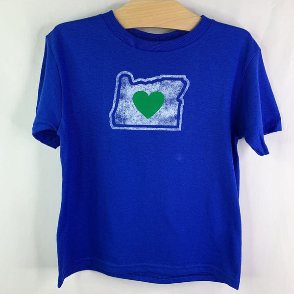 Oregon Heart Sticker Locally Made Blue T-shirt 4