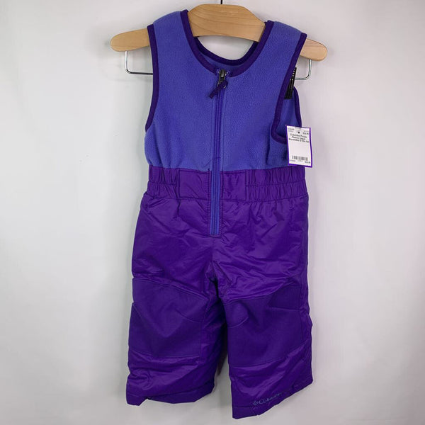 Columbia Purple Fleece Upper Snowbibs 6-12m