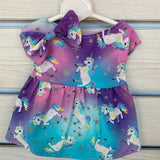 Handmade by Seng galaxy unicorn dress + bow