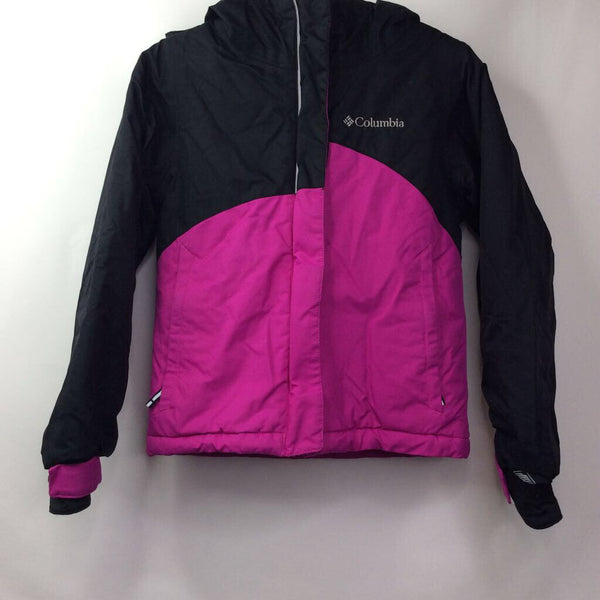 Columbia Black Fuchsia Omni-heat Hooded Coat 4-5