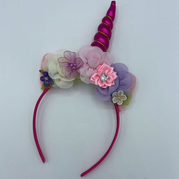 Hot Pink Unicorn Headband by Tutu Cute