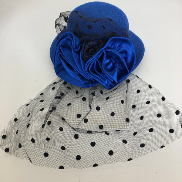 Tutu Cute Large Hat Hair Clip - Royal Blue