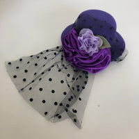 Tutu Cute Large Hat Hair Clip - Purple