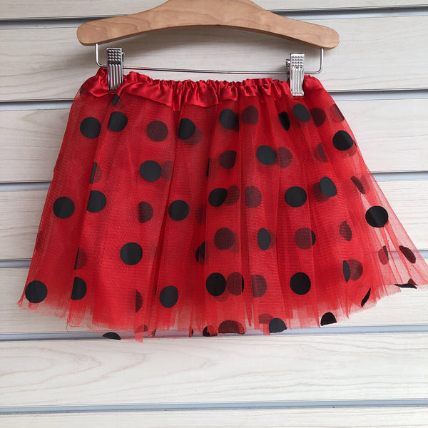 Tutu Cute Fancy Tutu Size 3-6T - Red Black Polkadot
