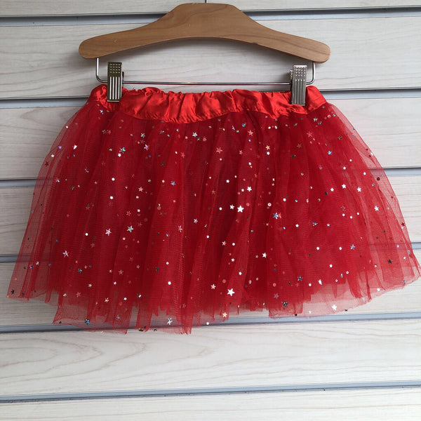 Tutu Cute Fancy Tutu Size 3-6T -Red Sparkly Stars