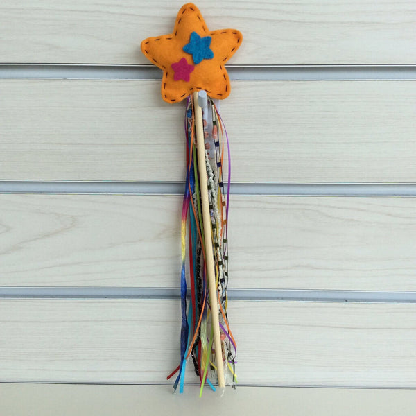 Tutu Cute Felted Wand - Orange Star