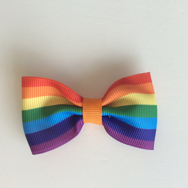 Tutu Cute Barrettes - Big Rainbow Bow