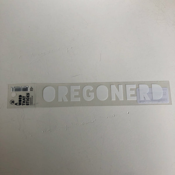 A Word That Sticks Locally Made Stickers - Oregonerd Clear Sticker