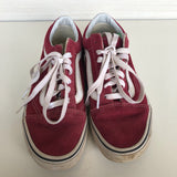 Vans Red w/ White Shoes 4Y