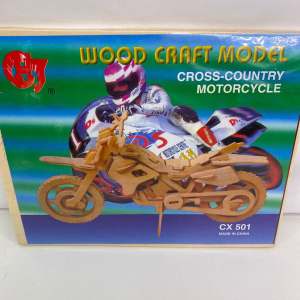 Wood Craft Model Cross-Country Motorcycle