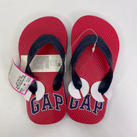 Size 10-11: Gap Red/Navy Flip-Flops NEW W/TAG