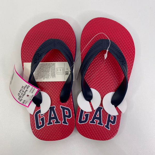 Gap Red/Navy Flip-Flops 10-11T NEW W/TAG