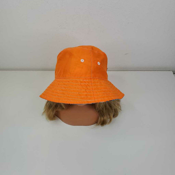UV Skin Blue Orange Plaid Reversible Sun Hat 5