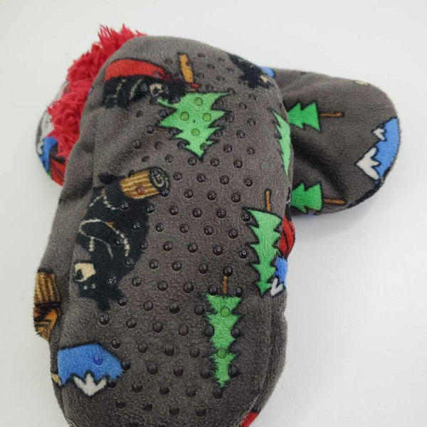 Lazy One Mountain & Pine Trees Sock Slippers 12-1 (XS)