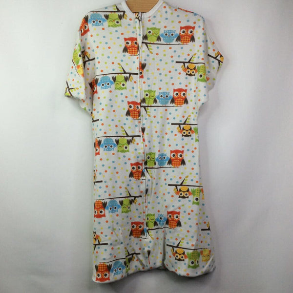 Zipadee Zip White w/ Owls Perched & Colorful Dots 6-12m M