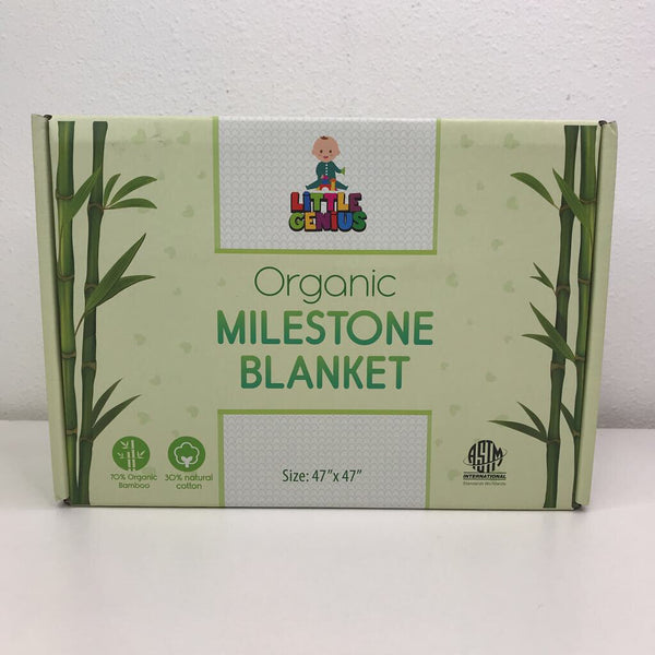 Little Genius Organic Milestone Blanket NEW