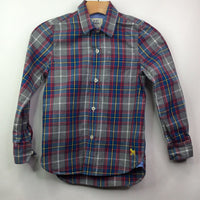 Mini Boden Grey/Red/ Blue/ Yellow Plaid Oxford 7-8