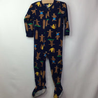 Carter's Navy w/ Bear in Shorts Fleece Pjs 3