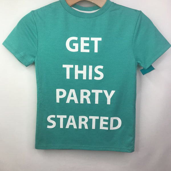 "Outfit ""get this party started"" Aqua T-shirt NEW w/tags 5-6"
