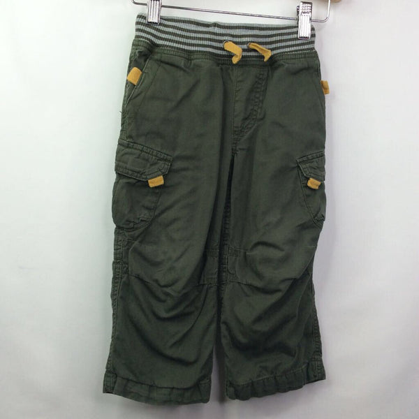 Hanna Andersson Green Cargo Lined Pants 3 (90)