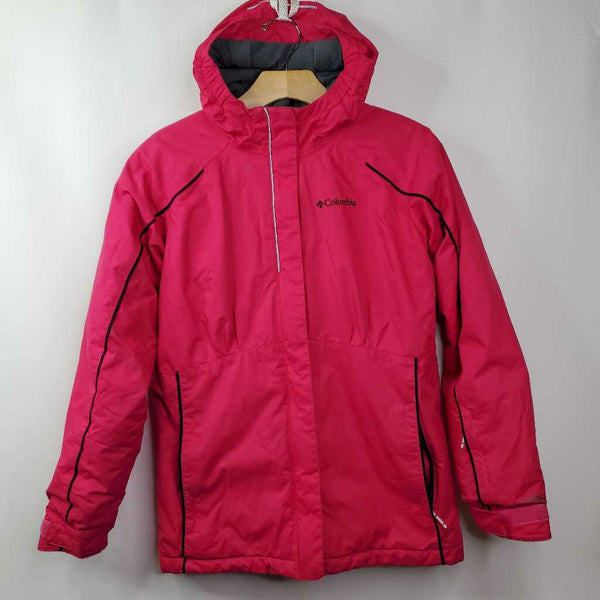 Columbia Omni-Heat Pink Puffy Poly-fill Hooded Coat 14-16 (L)