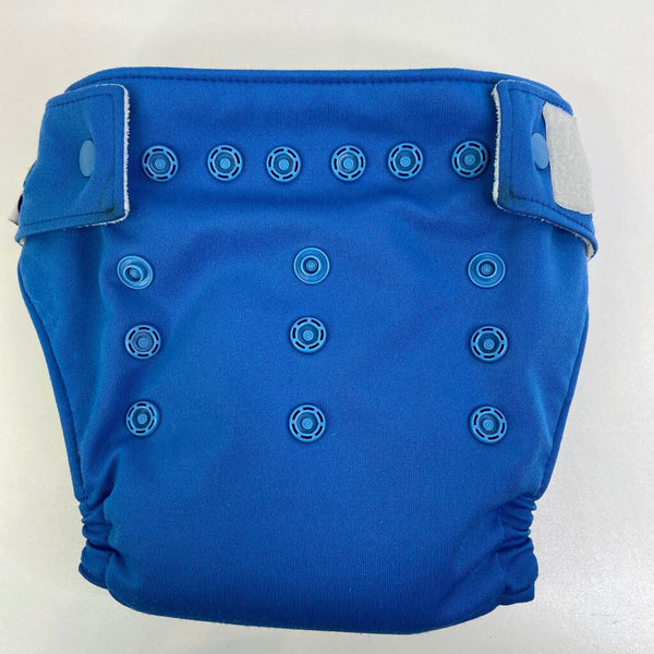 O.N.E (by GroVia) Blue Multi-Snap Reusable Diaper W/Inserts