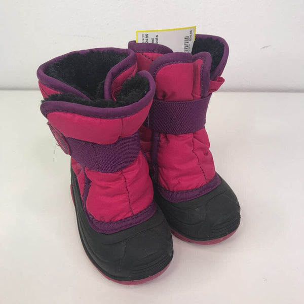 Kamik Pink/Purple/Black 'SnowBug 2' Snow Boots 6T