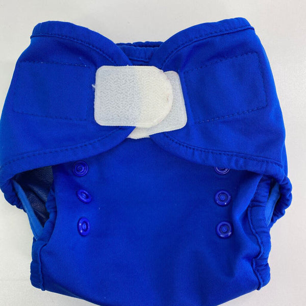 Thirsties Blue Snap Adjustable Velcro Closure Diaper Cover Size 1 (0-9m)