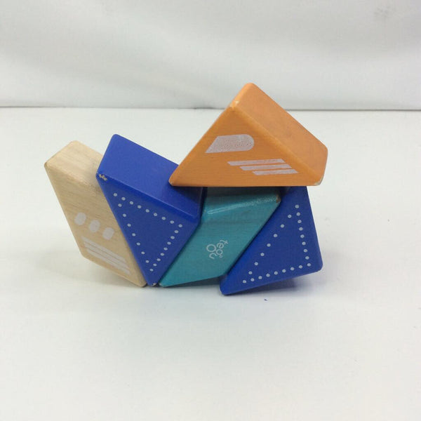 Tegu Toys Pocket Pouch Prism Magnetic Wooden Blocks