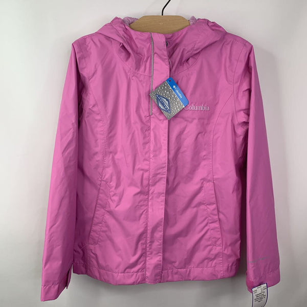 Columbia Pink Mesh-Lined Waterproof Rain Coat 6 NEW w/ Tags