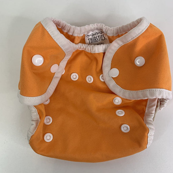 Thirsties Orange Snap Adjustable Snap Closure Diaper Cover Size 1 (0-9m)