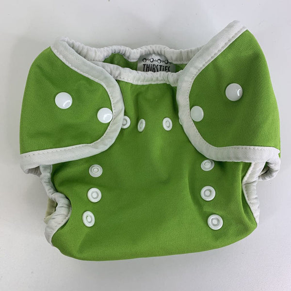 Thirsties Green Snap Adjustable Snap Closure Diaper Cover Size 1 (0-9m)