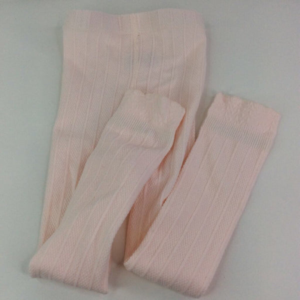 Pink Knit Footless Tights 3