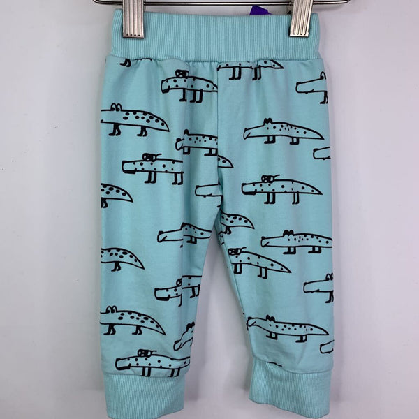 Eghunooy Teal Crocodile Cozy Pants 3-6m (60)