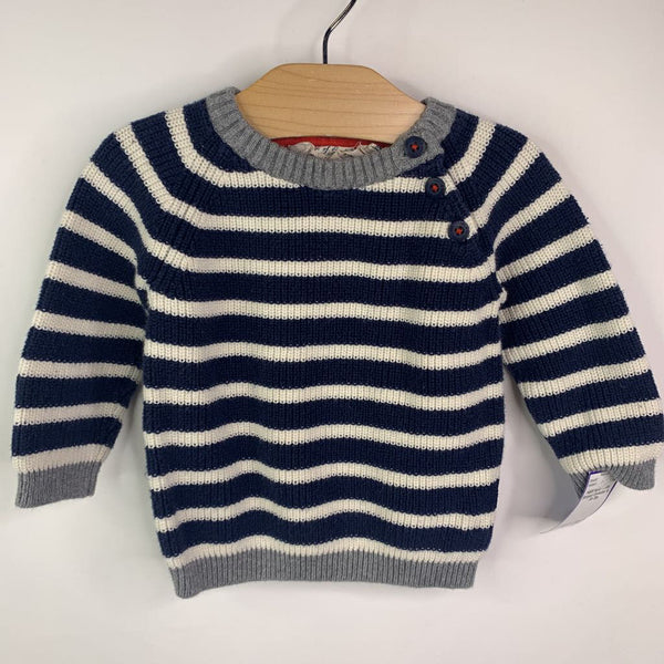 H&M Navy White Striped Sweater 4-6m