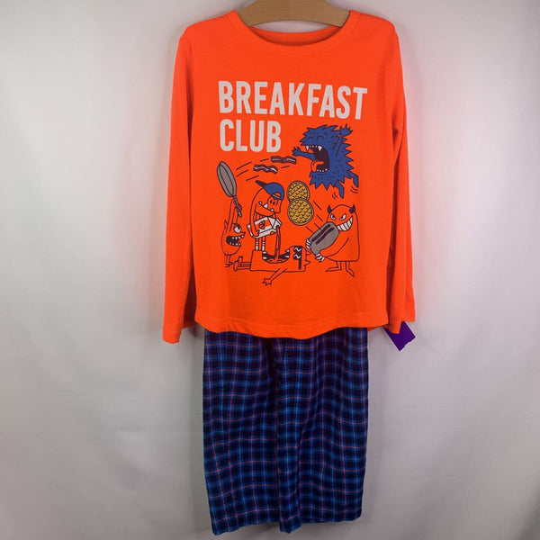 Gap Orange Navy Breakfast Club 2pc Pjs 8