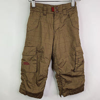 Old Navy Brown Plaid Fleece Lined Snow Pants 2