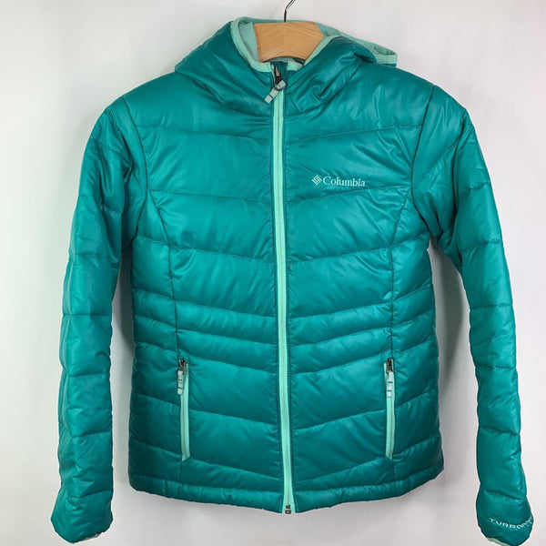 Columbia Omni-Heat Teal Down Hooded Coat 10-12 (M) REDUCED - SALE