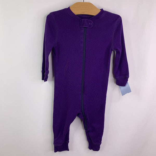 Primary Purple Zip Up Pjs 6-9m