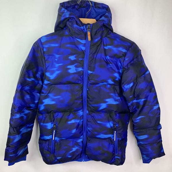 Champion Blue Fleece Lined Polyfill Hooded Coat 8-10