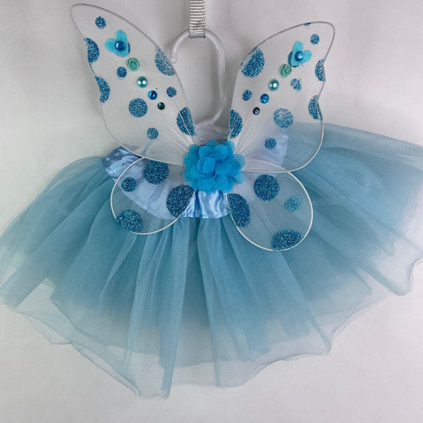 Tutu Cute Infant Fairy Wing & Tutu Set (0-3m) - Blue