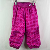 REI Pink Floral Fleece Lined Snowpants 18m