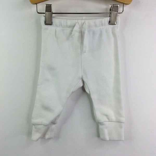 Owlivia White Cozy Pants 3-6m