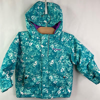 Columbia Blue/Purple Floral Pattern Omni-Heat Coat 2