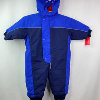 Hanna Andersson Water Resistant Blue Hooded Snowsuit 6-12m (70)