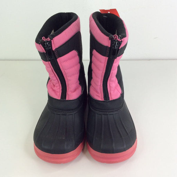 Size 3Y: ArcticShield Pink/Black Waterproof Insulated Warm Comfortable Durable Easy On/Off Winter Snow Boots REDUCED