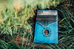 Ukutune KLA1 Kalimba Solid Koa Wood Blue Color