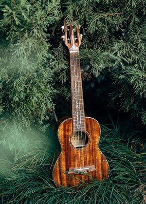 "26"" Solid Flamed Koa Wood Tenor Ukulele"