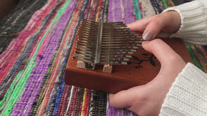 Ukutune KLM1 Kalimba Solid Mahogany Wood Natural Color