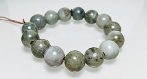 Jade Bracelet, Green to white Jade, natural Color Jade